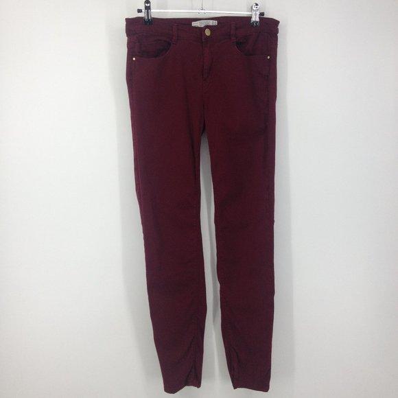 Zara Denim - Zara Trafaluc Denim Collection Maroon Skinny Jeans